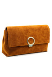 scrub leather envelope purse
