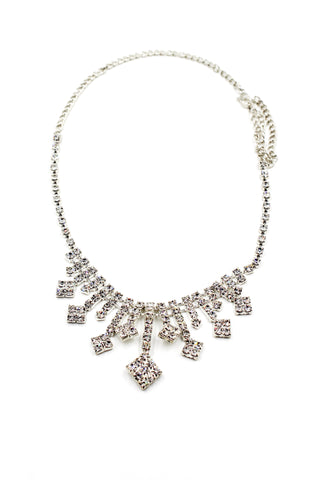 single crystal silver necklace