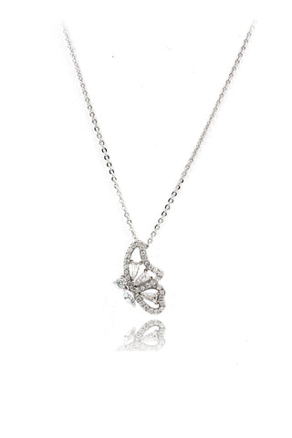 fashion antler crystal necklace