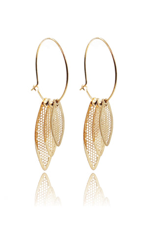simple golden ball earrings