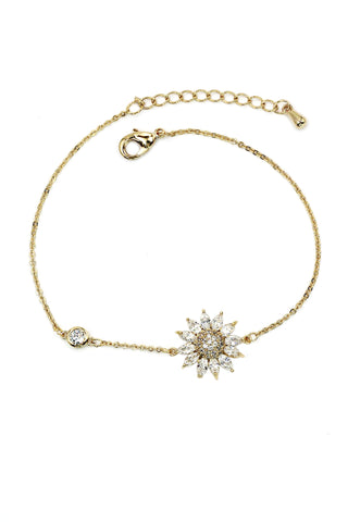 Stars Blue  Crystal  Decoration gold Bracelet