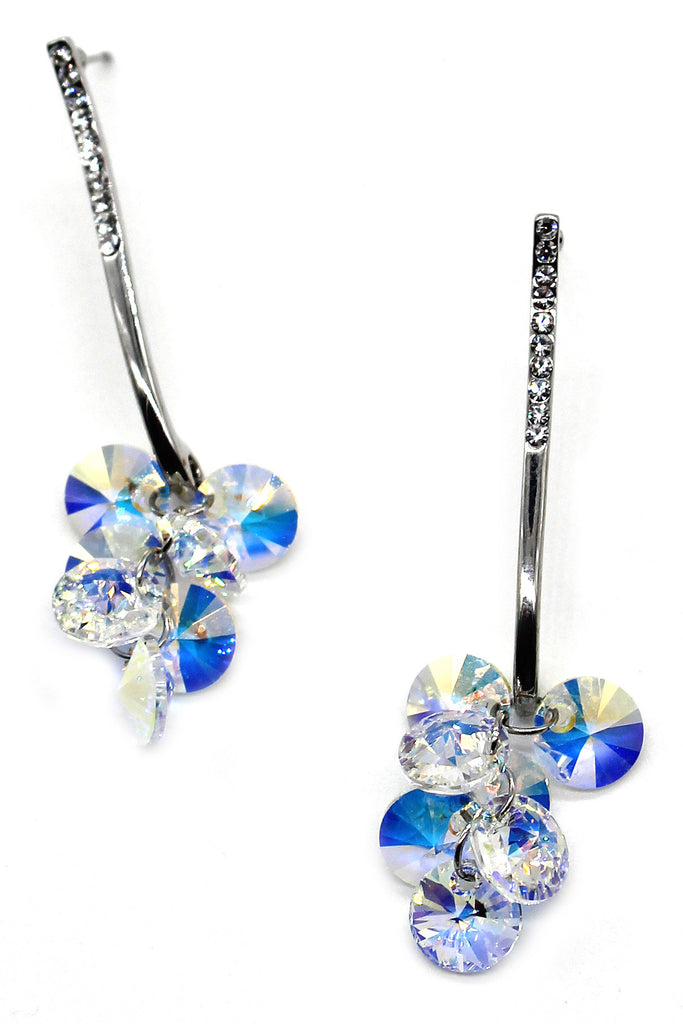 lady pendant swarovski crystal earrings