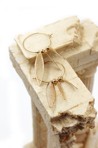fashion square round golden bracelet earrings set
