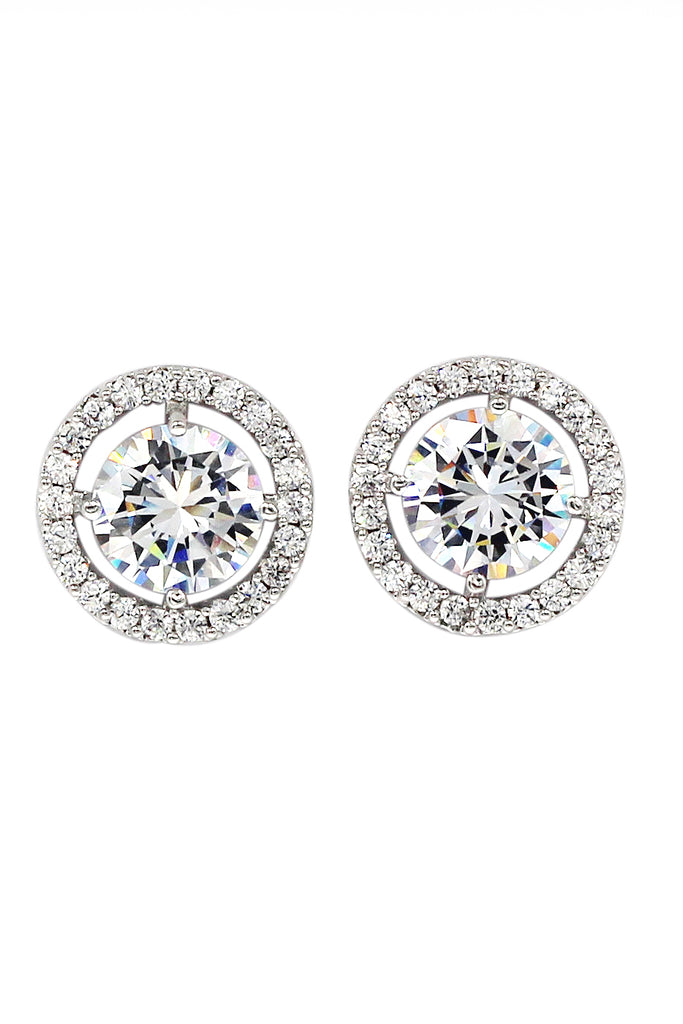 sparkling shining crystal earrings