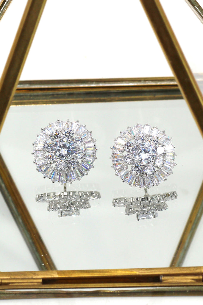 flashing crystal earrings