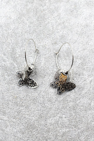 elegant bunches swarovski crystal earrings