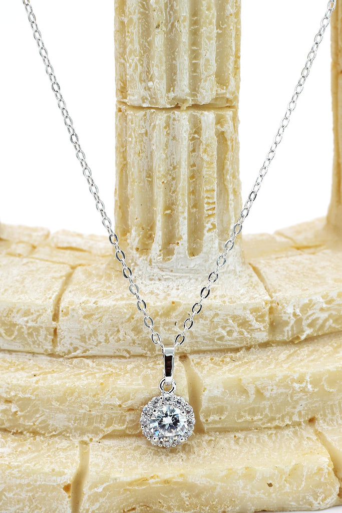 elegant shiny crystal necklace earrings set