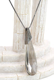 fashion big gray crystal necklace