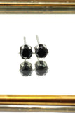 mini six-claw small crystal stud earrings
