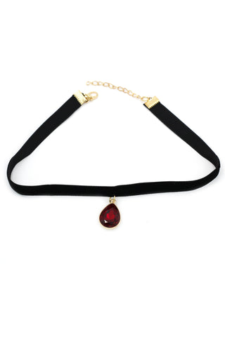 Golden Polaris Crystal black choker