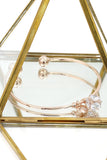 rose gold ball crystal bracelet earring set