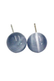 fashion ball silver needle earrings