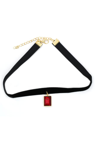 ladies plush belt pendant drop crystal choker