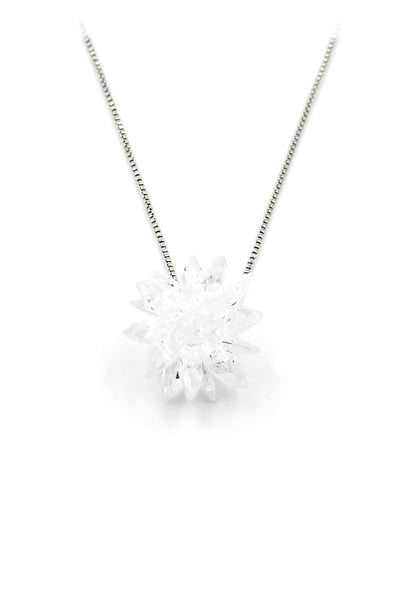 fashion snowflake silver necklace