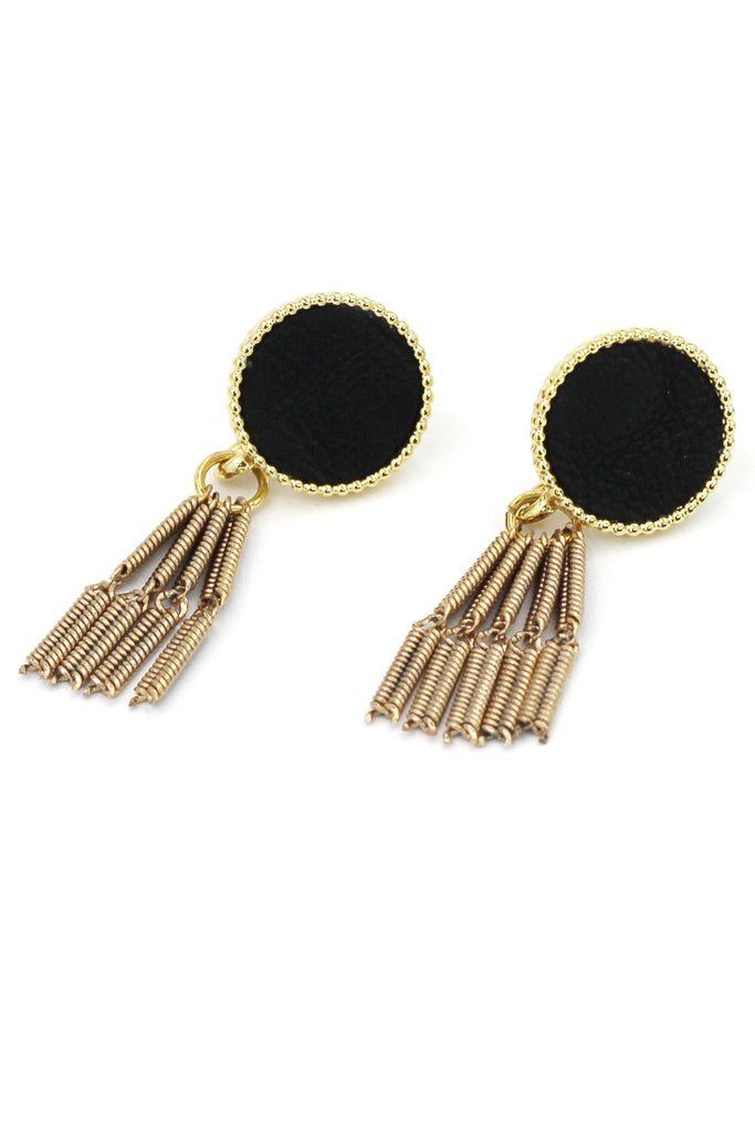 simple wire tassel earrings