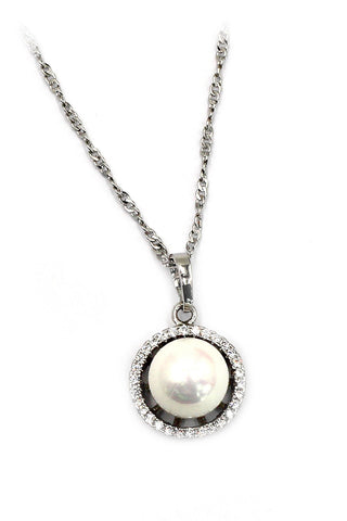 mini crystal ball necklace