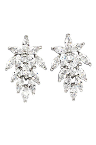 fashion circle rim crystal earrings