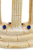 blue shiny crystal bracelet earring set