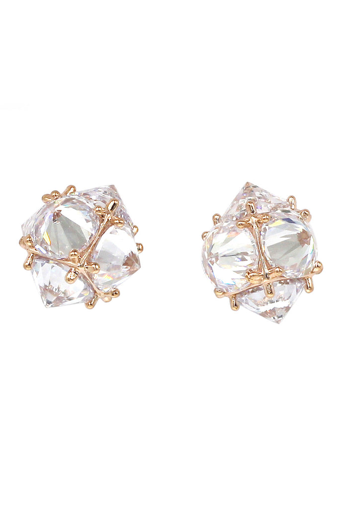 sparkling sharp crystal earrings