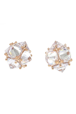 elegant bundle pearl crystal silver earrings