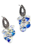sparkling drop swarovski crystal earrings