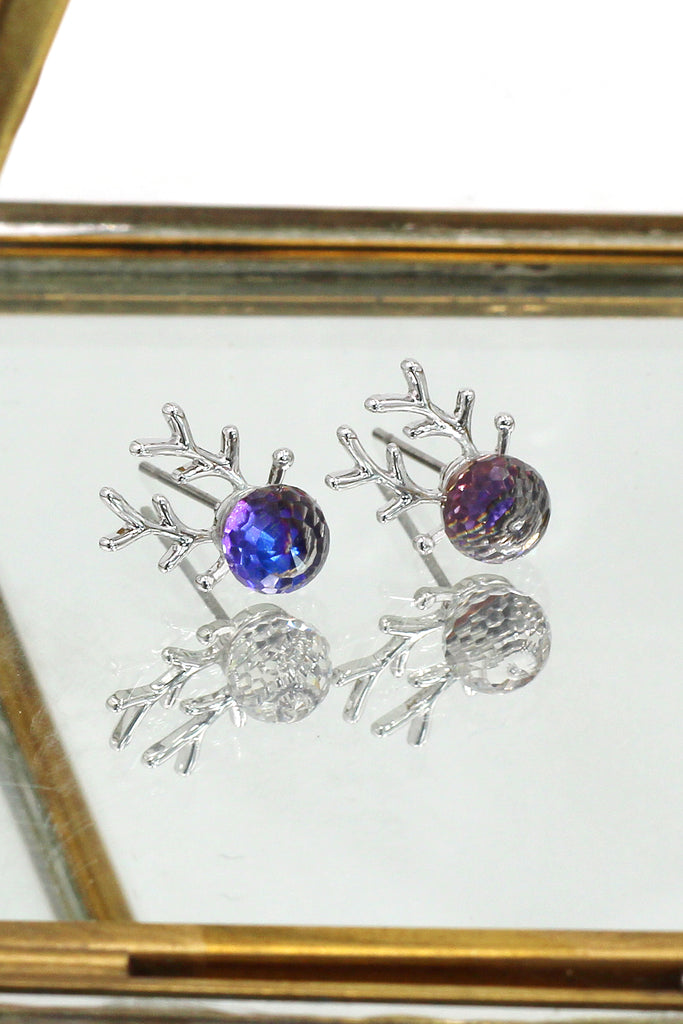 Lovely crystal deer earrings