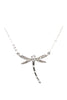 silver dragonfly pendant necklace