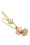 duplexes crystal windmill necklace