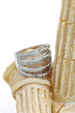 fashion micro-set small crystal loop ring