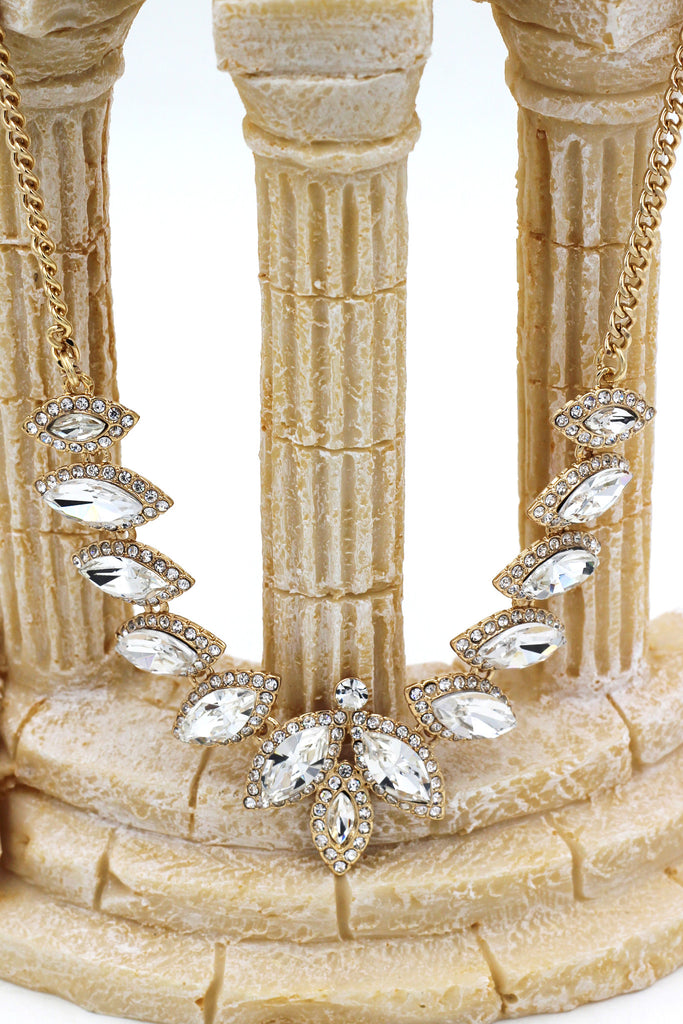 fashion crystal groats necklace