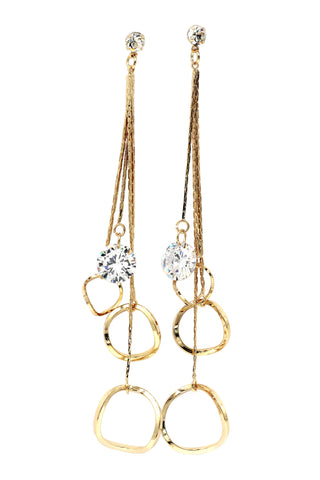 fashion water drop pendant pearl earrings