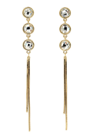exaggerated tassels earrings