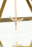 rose gold angel crystal necklace