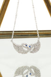 double swan blue Eye pendant necklace
