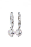 fashion shiny pendant crystal earrings