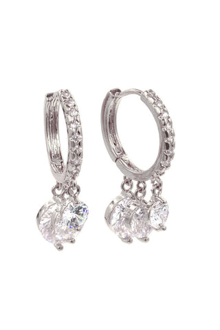 mini shiny crystal earrings