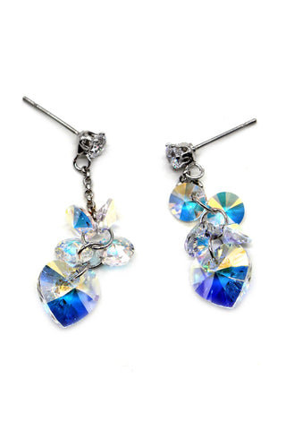 Fashion beautiful pearl star crystal earrings
