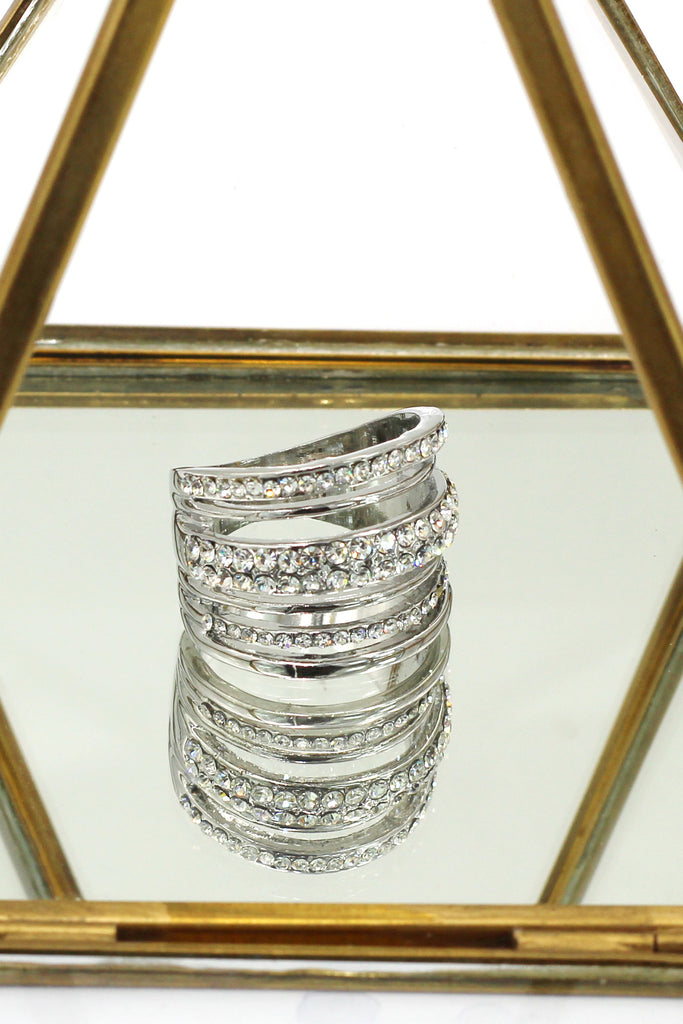 noble loop small crystal ring