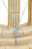 delicate crystal key and lock necklace