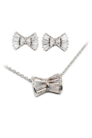 double rose box crystal necklace