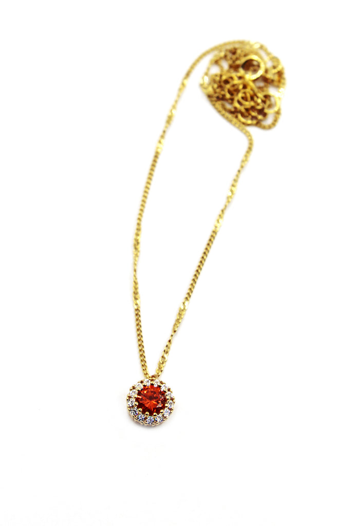 fashion gold crystal necklace