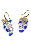 lady swarovski crystal foliage earrings