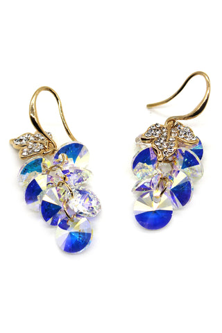 sparkling snowflake crystal earrings
