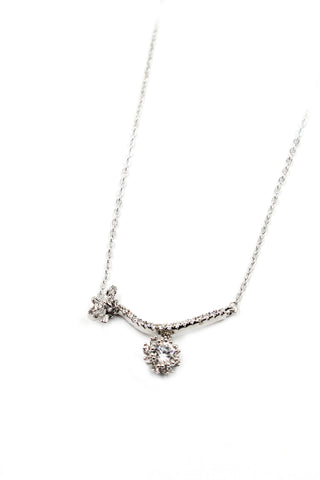 beautiful twin swan necklace