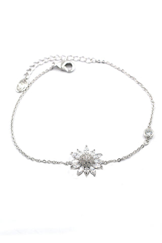 fashion micro pave small crystal feather silver necklace