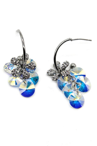 Fashion circle silver earrings