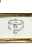 love crystal silver ring