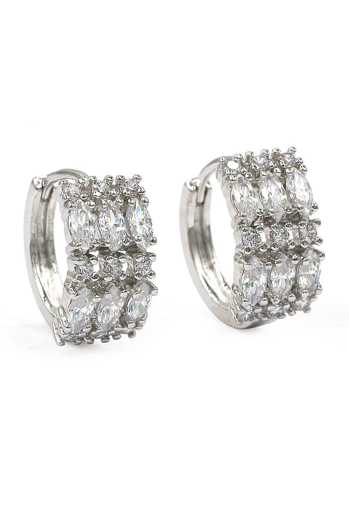 fashion crystal silver earrings