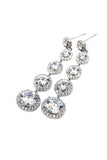 beautiful silver pendant earrings