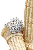 lady sparkling silver crystal ring